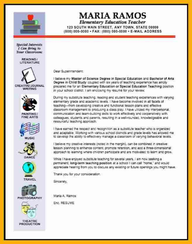 Cover Letter Examples For Elementary Teachers