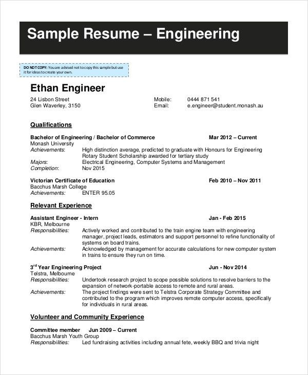 resume examples activity format suggestion hampshire regional ...