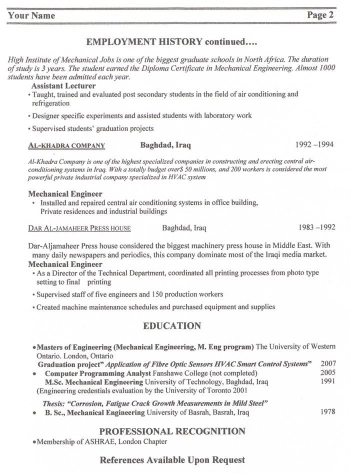 Download Canadian Sample Resume | haadyaooverbayresort.com