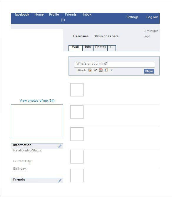 8+ Amazing Blank Facebook Templates – Free Samples, Examples ...