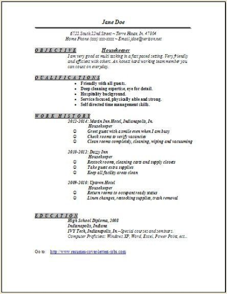 Hospital Housekeeping Supervisor Resume Sample #3309