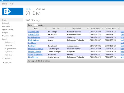Staff Directory – Microsoft AppSource