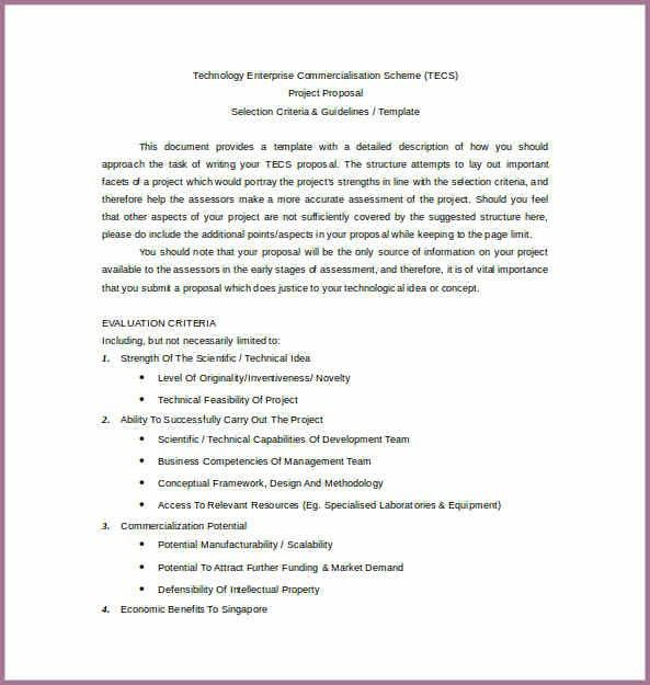 BUSINESS PROJECT PROPOSAL FORMAT | proposal cv format