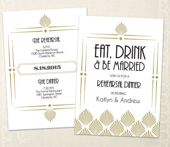 Sample Rehearsal Dinner Invitations – gangcraft.net