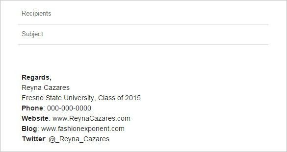 11+ College Student Email Signatures – Free Samples & Examples ...