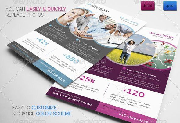 20+ InDesign Flyer Templates For Business | Web & Graphic Design ...