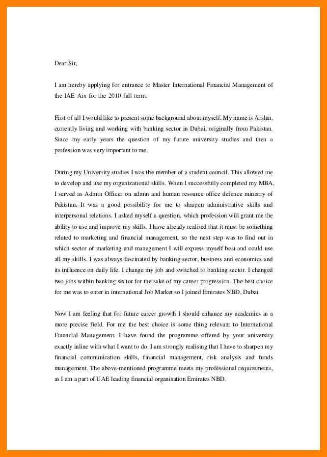 6+ motivation letter master example | pattern resume