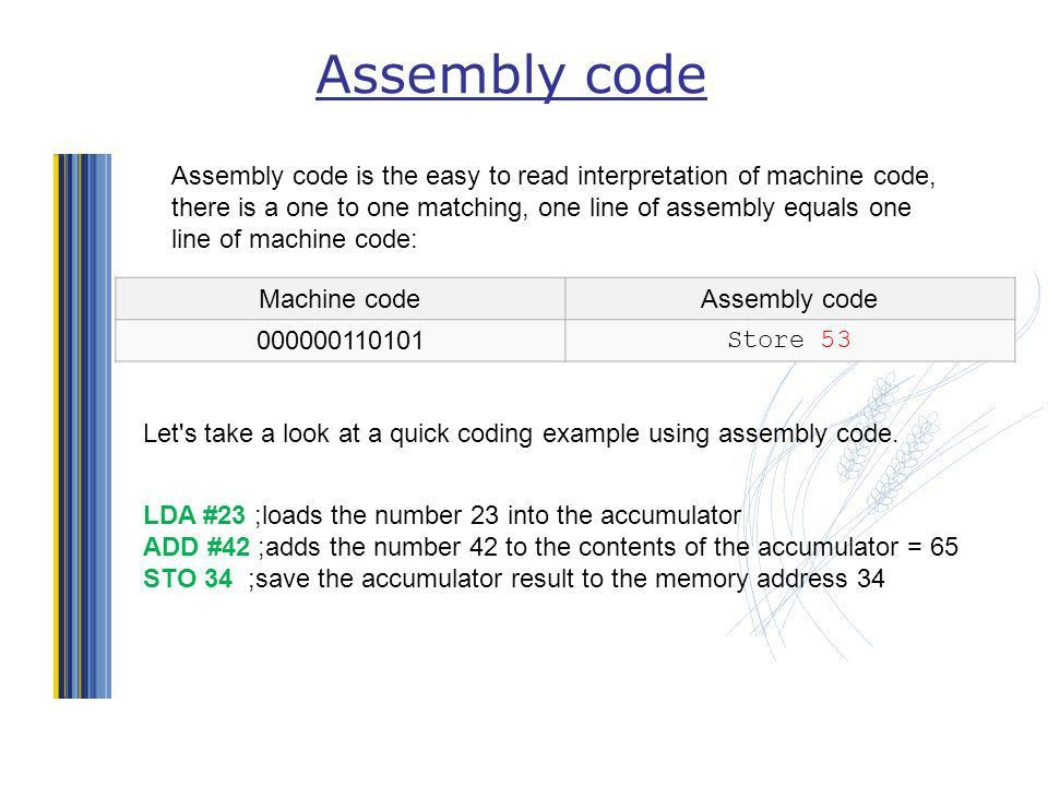 Computer Systems – Machine & Assembly code. Objectives Machine ...
