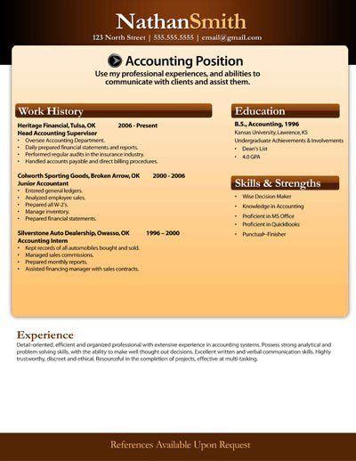 Free Resume Templates - Download Microsoft Word Resumes Samples