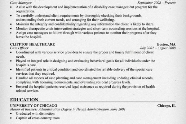 Health insurance claims manager resume