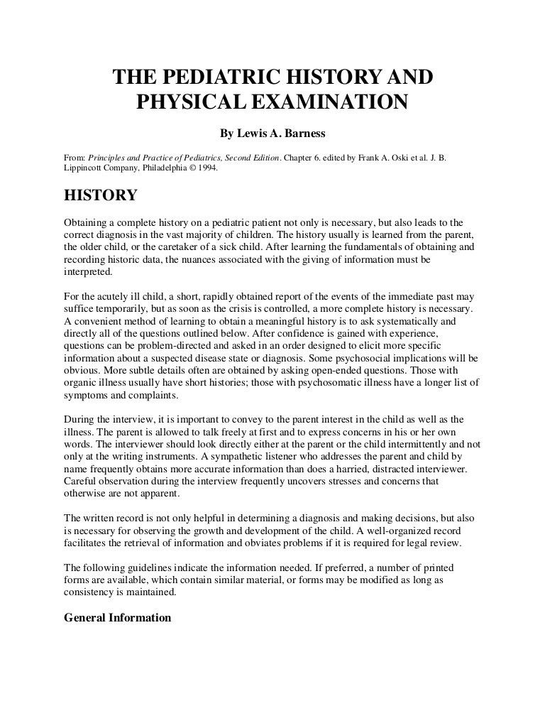 Physical Exam Template. Emergency Department Evaluation Clues To ...