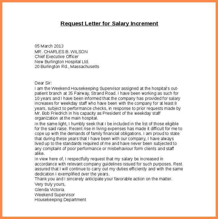 Best Merit Increase Letter Template Images - Best Resume Examples ...