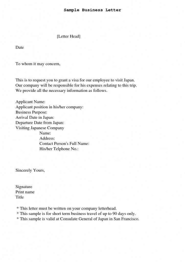 To Whom It May Concern Business Letter | The Letter Sample