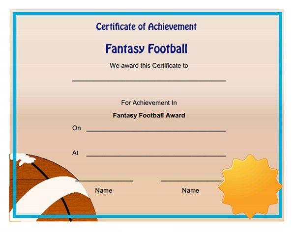 Printable Sports Certificates | Sampleprintable.com