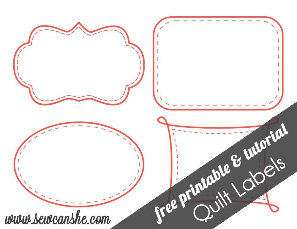 Quilt Labels! {free printable} — SewCanShe | Free Sewing Patterns ...
