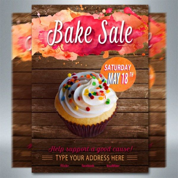 21+ Bake Sale Flyer Templates - PSD, Vector EPS, JPG Download ...