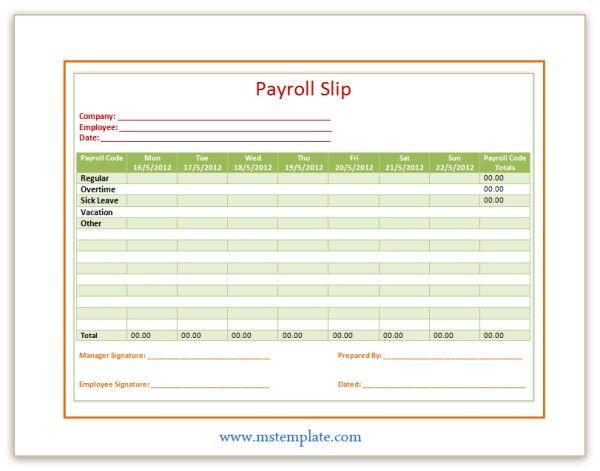 Payroll Slip Template | Templates Platform