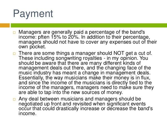 Music Business: Artist Management Contracts