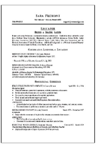resume hobbies and interests samples