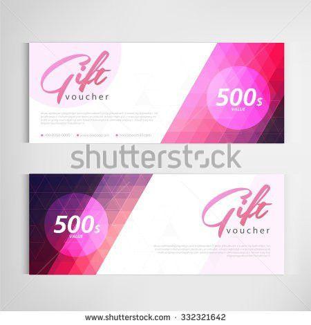 Gift Voucher Template Modern Pattern Vector Stock Vector 332321642 ...