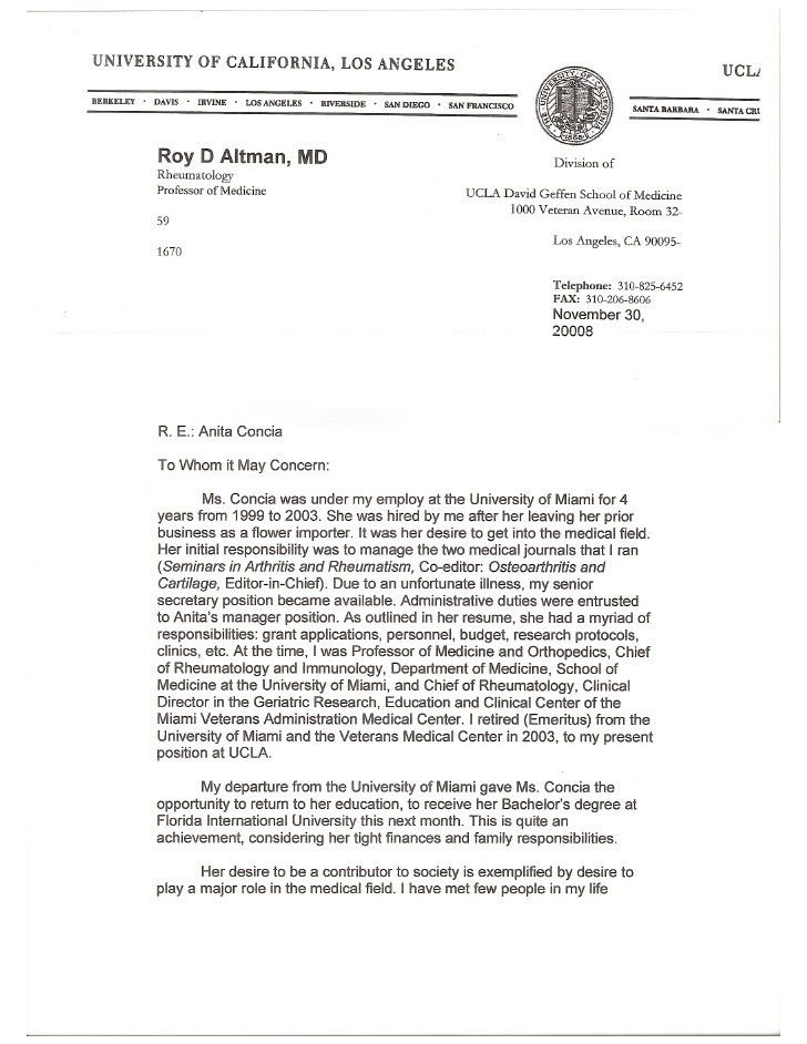 Letter from Dr.Roy Altman