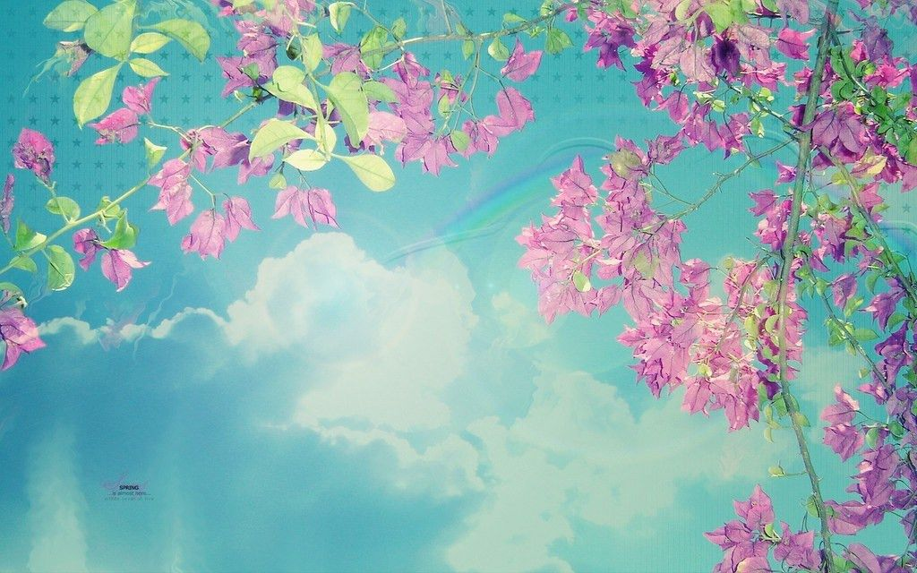 Free Clouds Flowers Spring Backgrounds For PowerPoint - Nature PPT ...