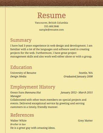 Simple Resume Examples | | ingyenoltoztetosjatekok.com