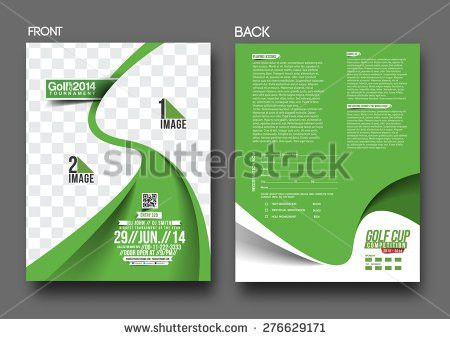 Golf Tournament Front Back Flyer Template Stock Vector 154410584 ...