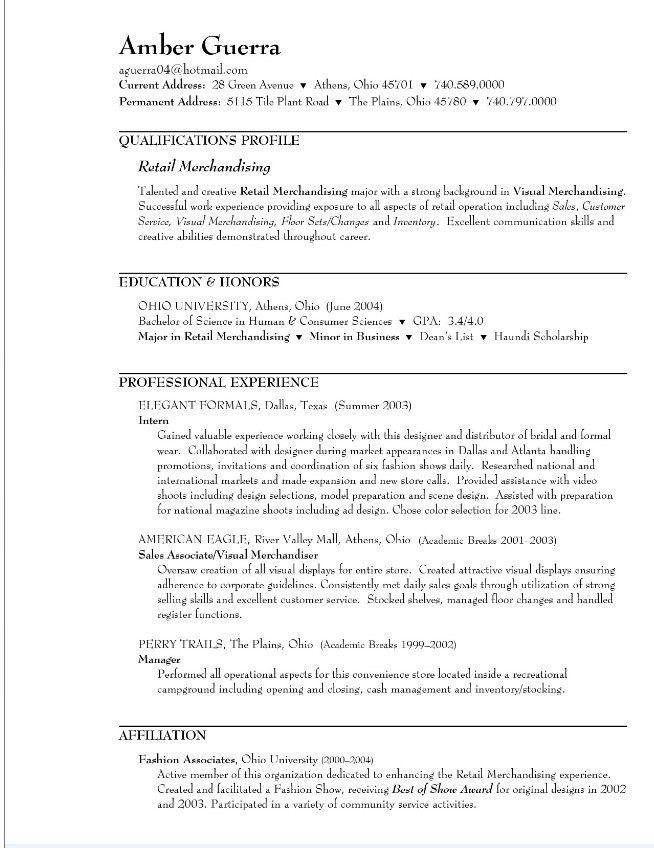 Sales Resume: Retail Sales Associate Resume Samples Retail Sales ...