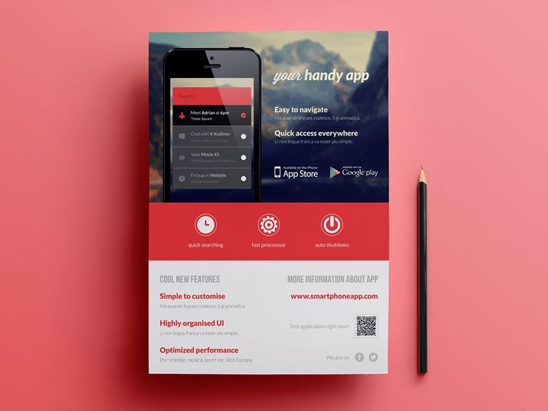 Mobile Application / Phone App flyer | Mobile applications, App ...