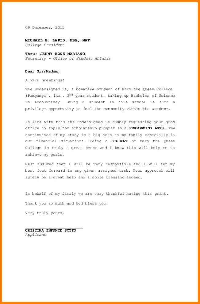 Student Letter. Summer Job Application Letter For Student 8+ Job ...