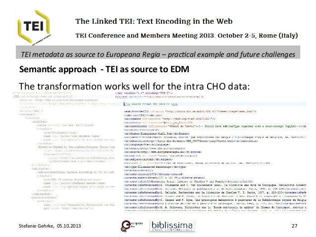 TEI metadata as source to Europeana Regia – practical example and fut…