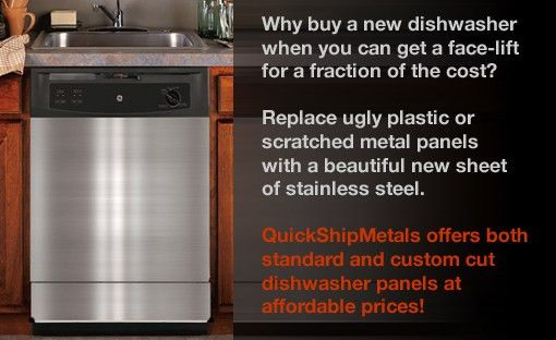 Steel Dishwasher Panels from QuickShipMetals.com