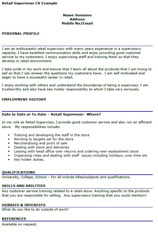 12 Supervisor Duties Resume Resume describe your supervisory ...