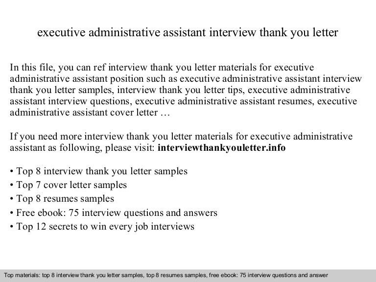 executive administrative assistant cover letters - Etame.mibawa.co