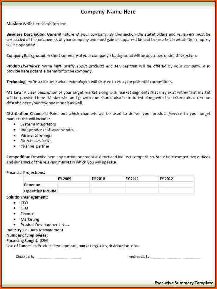 Executive Summary Template Free 31 Executive Summary Templates – Executive Summary Template Free