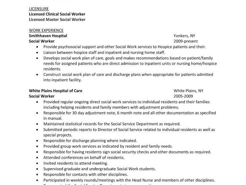 Impressive Design Ideas Sample Social Work Resume 6 Entry Level ...