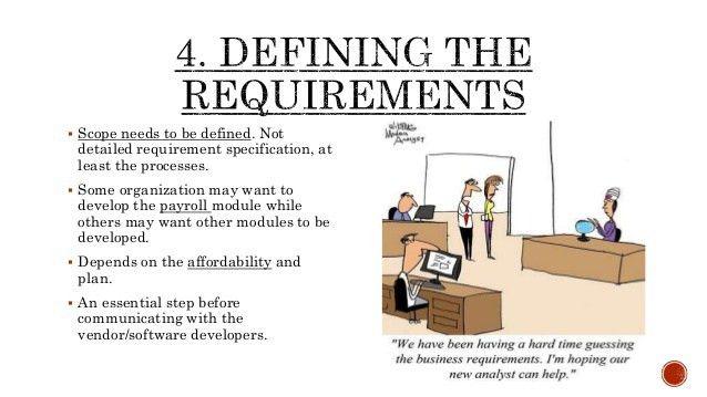 steps of implementation of HRIS