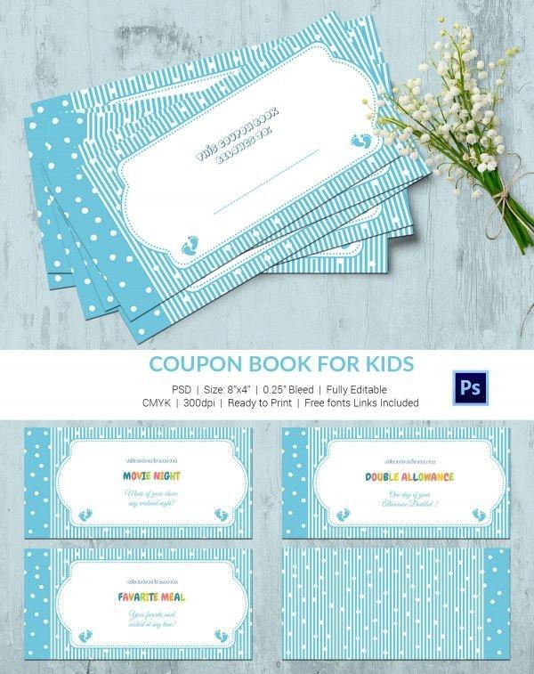 coupon book templates printable free
