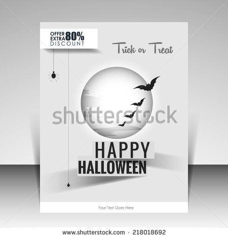 Vector Halloween Discount Flyer Can Be Stock Vector 218018692 ...