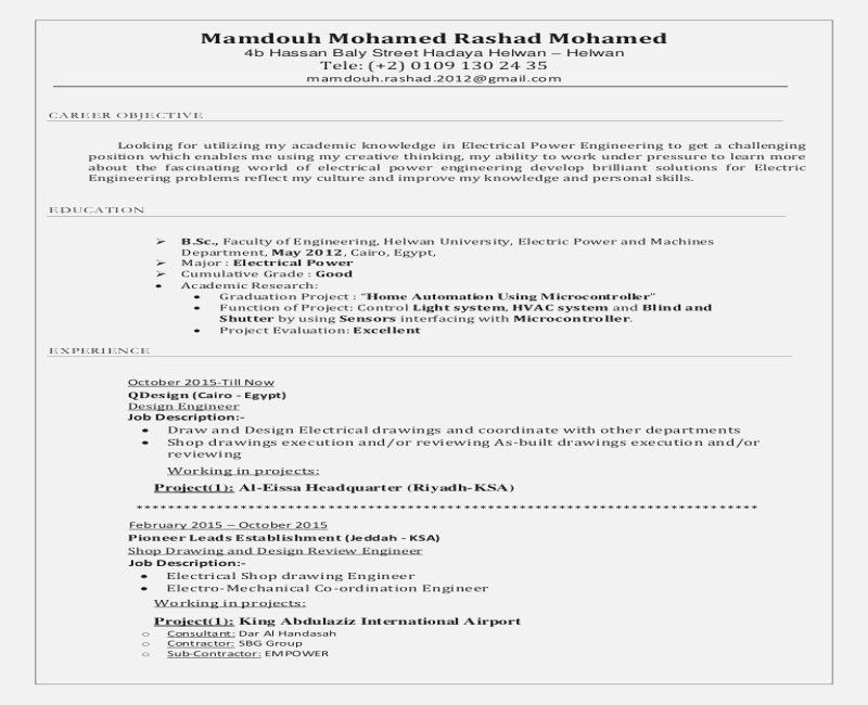 job description of electrical engineer