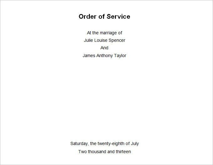Wedding Order Template – 35+ Free Word , PDF, PSD, Vector Format ...
