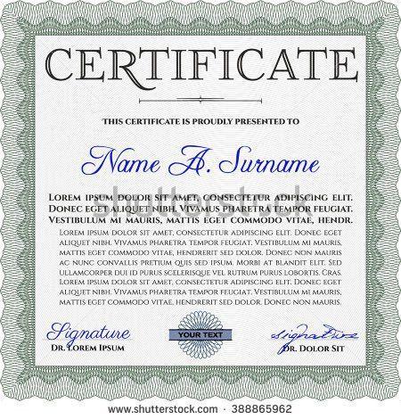 Money Certificate Template [Nfgaccountability.com ]