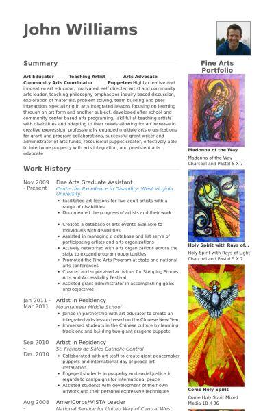 Graduate Assistant Resume samples - VisualCV resume samples database