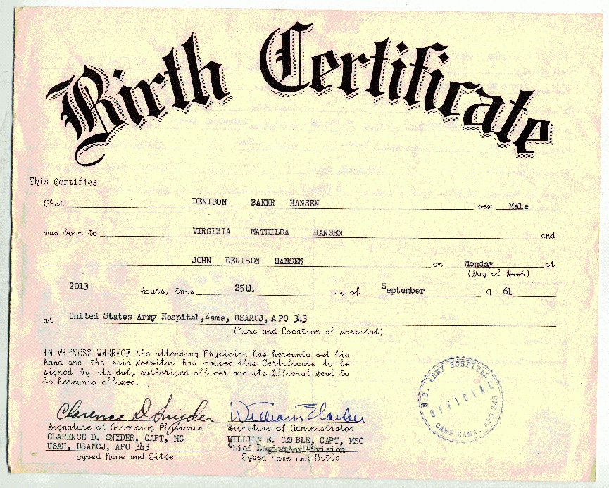 8 blank birth certificate template