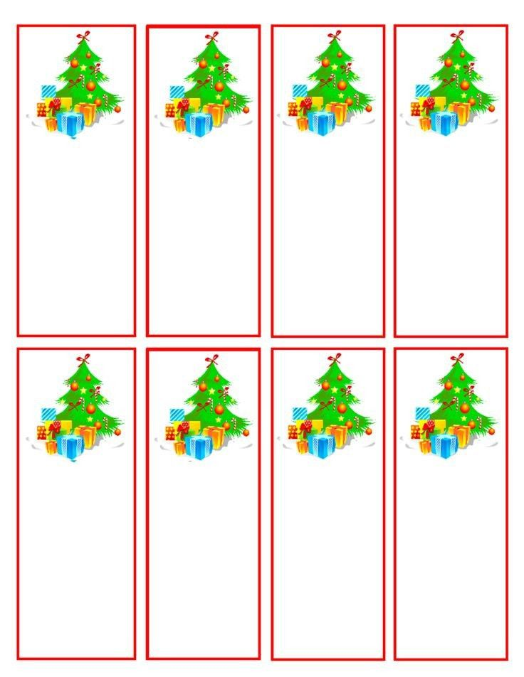 Christmas Bookmark Templates | Best Example Of Business Template