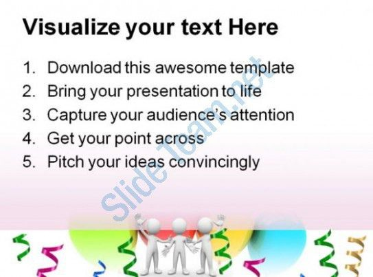 Congratulation And Celebration Metaphor PowerPoint Templates And ...