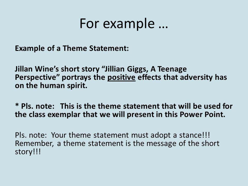 Theme Paragraph What is a theme paragraph? It is a paragraph about ...