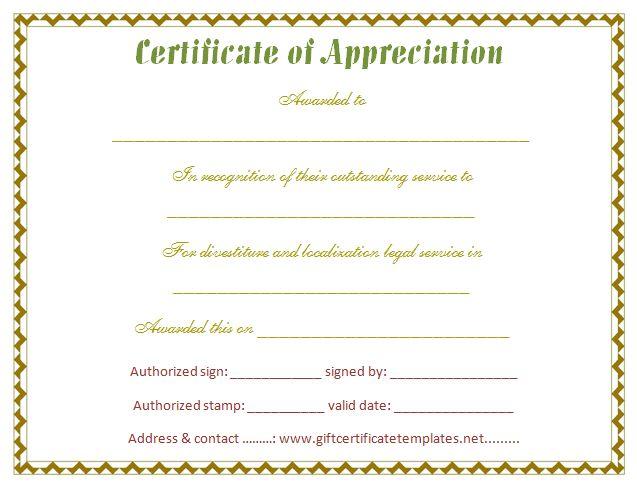Stylish Certificate of Appreciation Template - Certificate ...