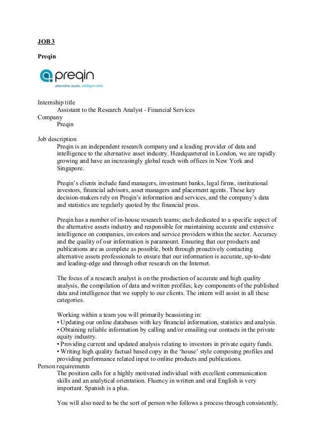 Job ads oral exam internship 2nd year